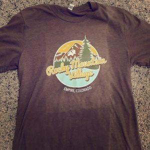 Brown Rocky Moutain Colorado shirt
